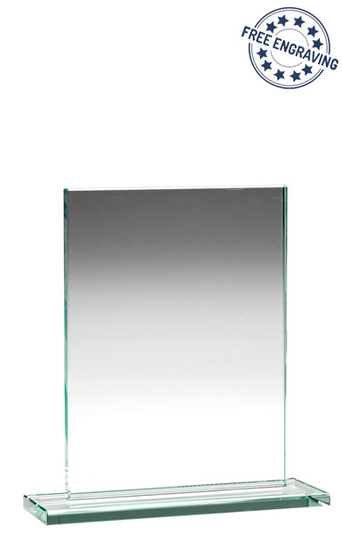 RECTANGLE PLAQUE JADE GLASS AWARD (18.4cm)- 10mm thickness - TP02B