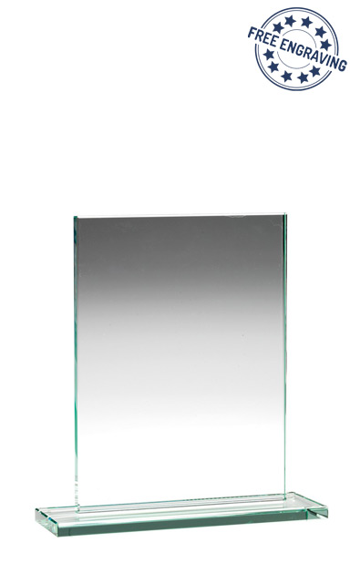 RECTANGLE PLAQUE JADE GLASS AWARD (16.5cm)- 10mm thickness - TP02A
