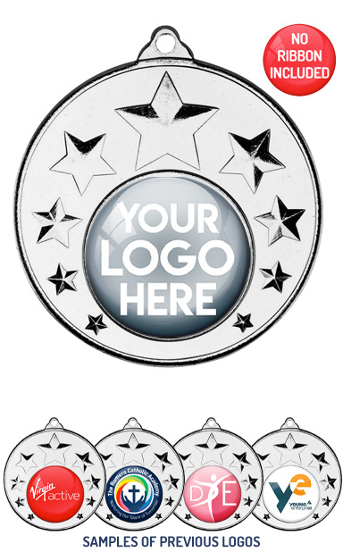 PERSONALISED M33 SILVER YOUR DANCE LOGO MEDAL - 89p or Less