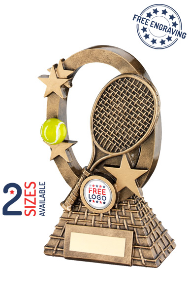 OVAL TENNIS STARS - RESIN TROPHY - RF742