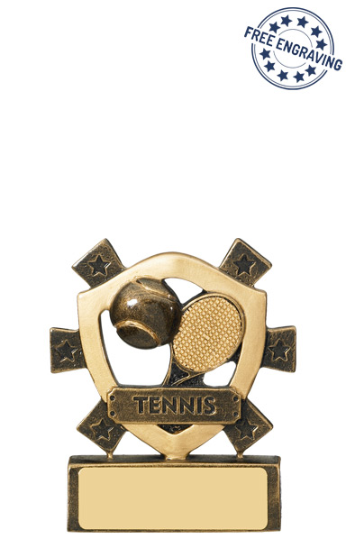 Mini Shield Tennis Resin Trophy - RM703