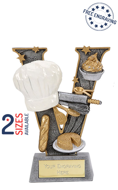 V Series Cooking/Baking Resin Trophy- A1497
